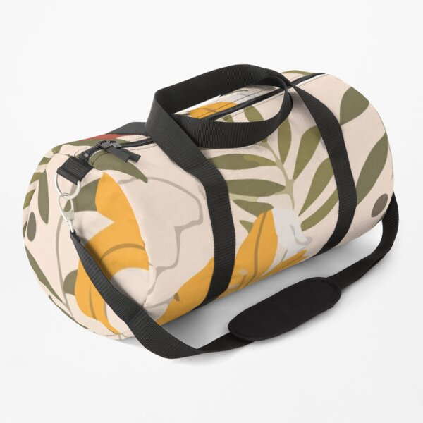 Abstract seamless pattern with tropical leaves hawaian Duffle Bag