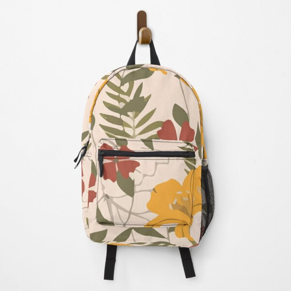 Abstract seamless pattern with tropical leaves hawaian Backpack
