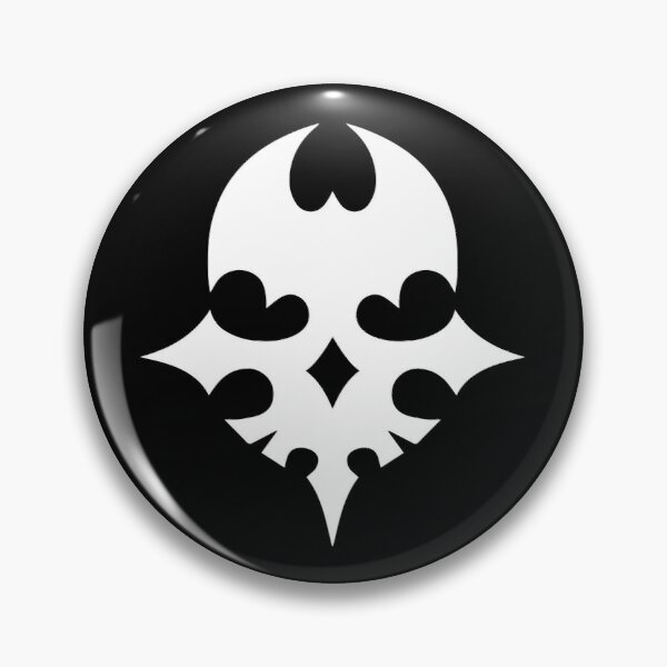 The World Ends With You – White Player Pin Skull Pin