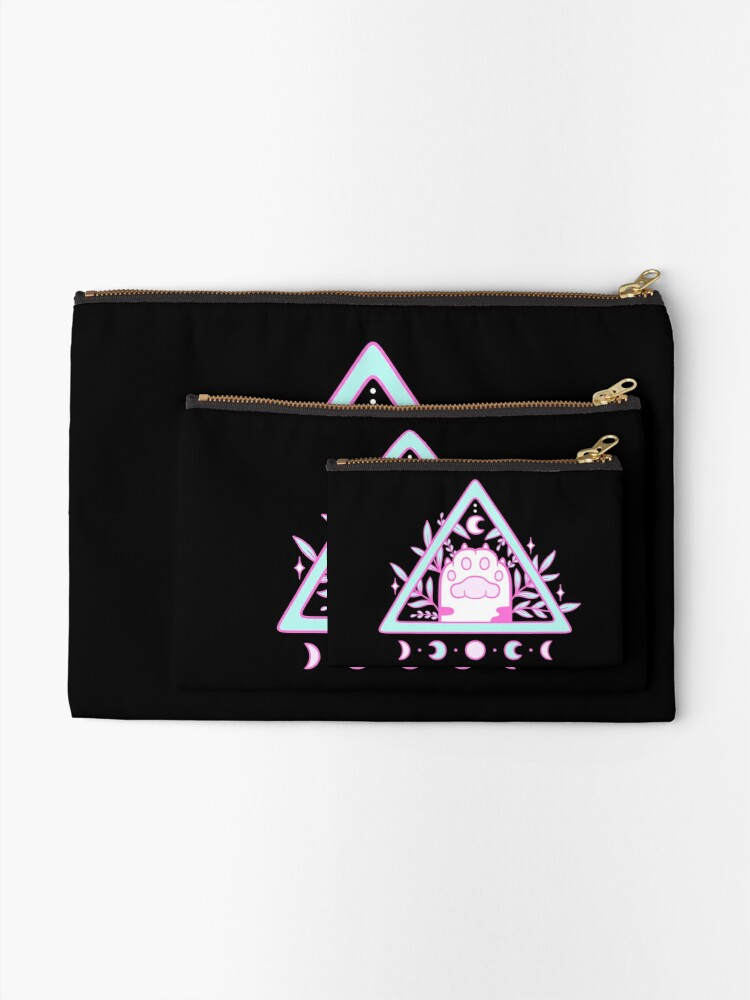 Alternate view of Witchy Cat Paw // Black | Nikury Zipper Pouch