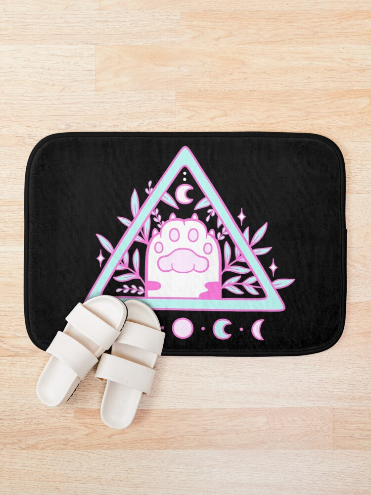 Alternate view of Witchy Cat Paw // Black | Nikury Bath Mat