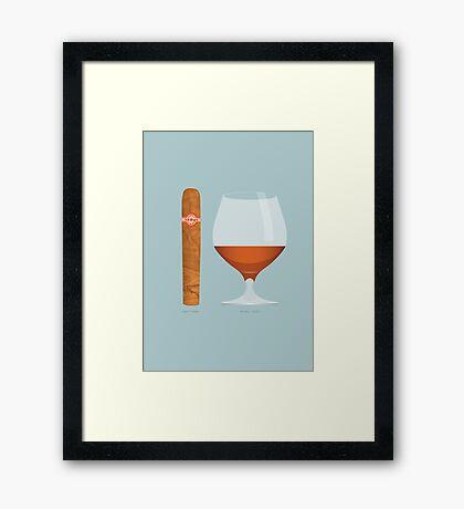 Brandy and Cigar Framed Print
