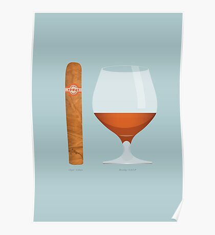 Brandy and Cigar Poster