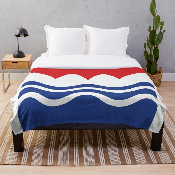 Awakening of red white & blue Throw Blanket