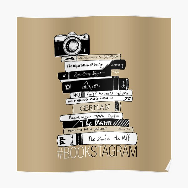 Book Photography - Bookstagram (Beige) Poster