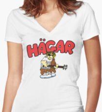 Hagar The Rockstar Women's Fitted V-Neck T-Shirt