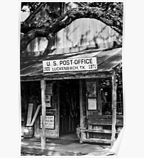 Luckenbach Texas BW Poster