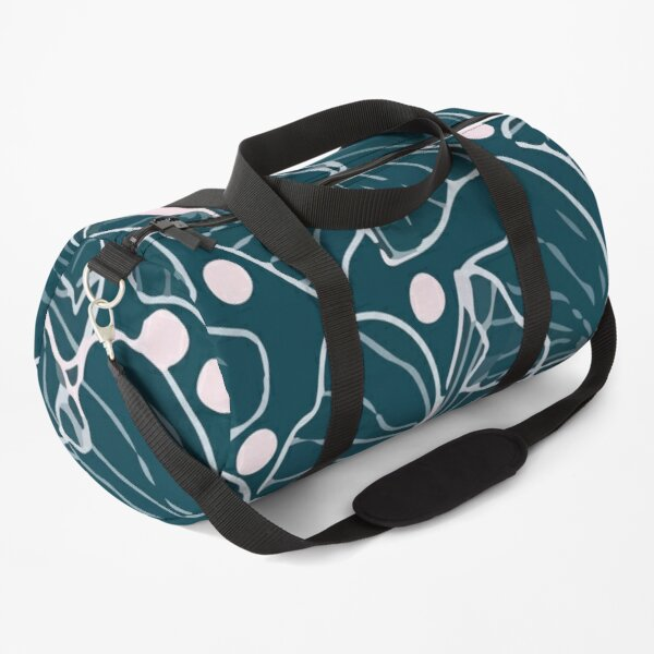 Modern vector tropical seamless pattern with openwork colors Duffle Bag