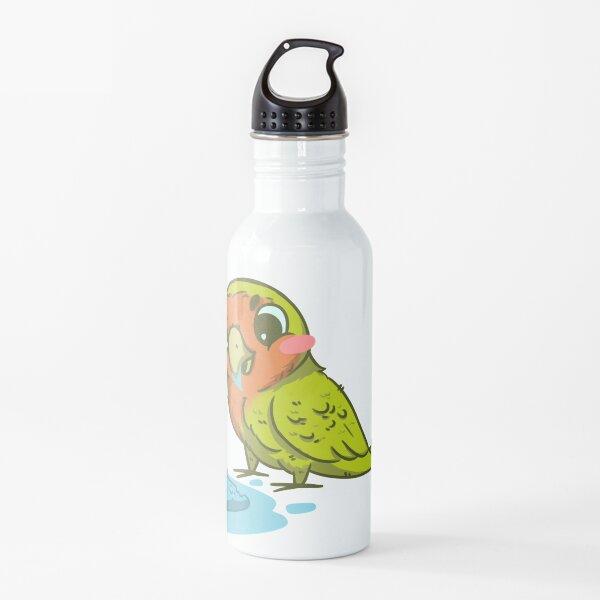 Lovebird Eating Ice Cream Water Bottle