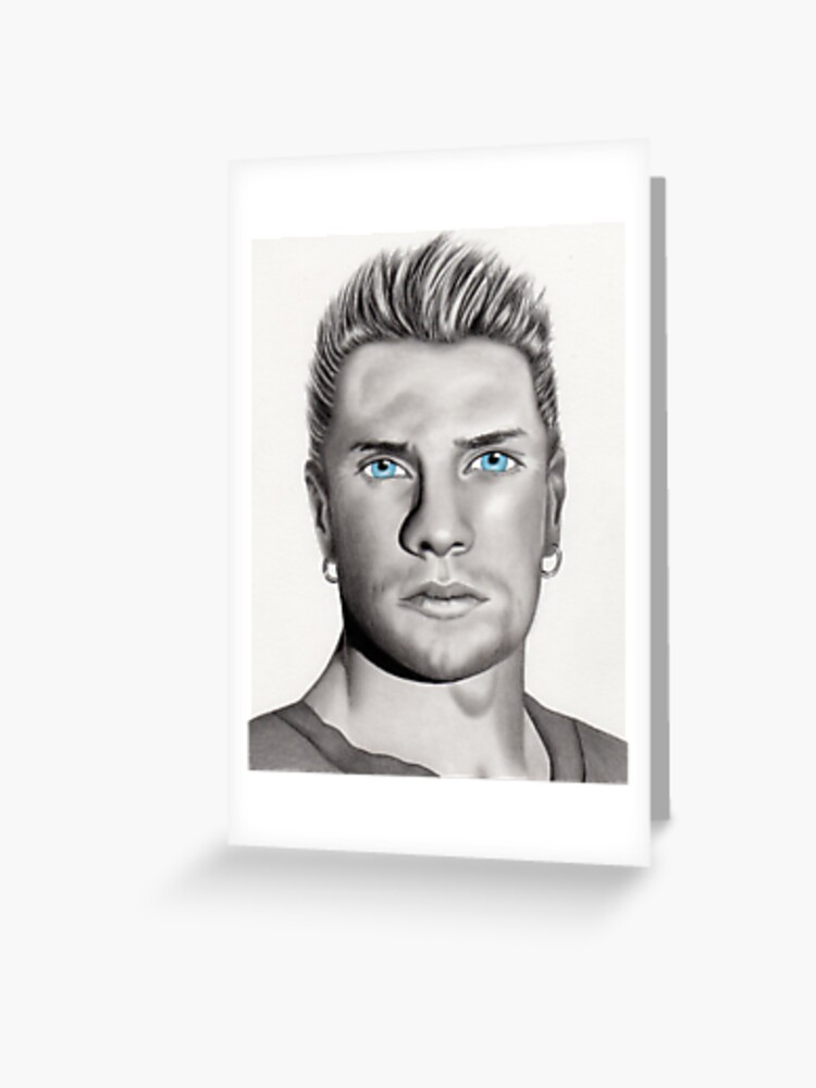 Larry Mullen Jr  Portrait | Greeting Card