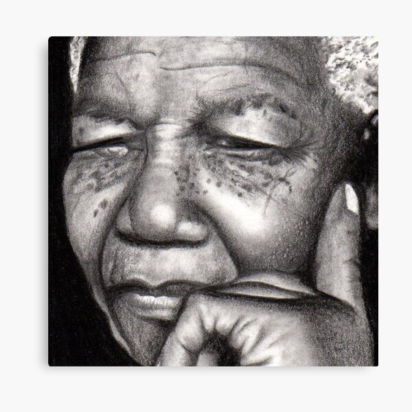 CANVAS Winnie and Nelson Mandela with Rosa Parks Art print POSTER