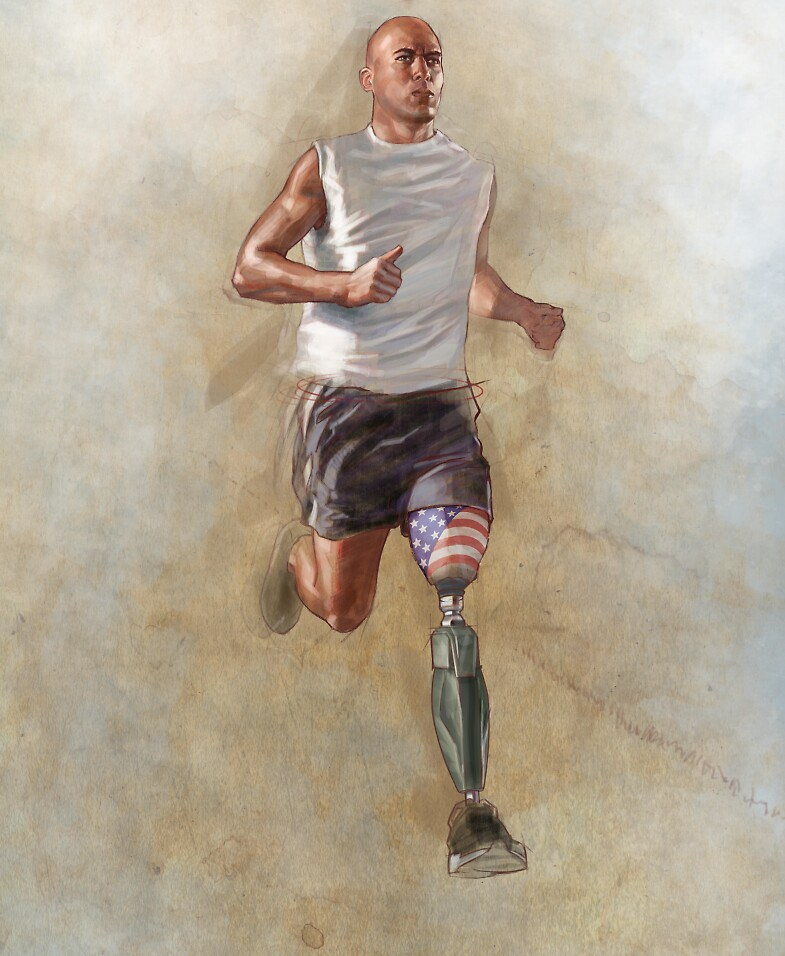 Wounded warrior by Jim rownd