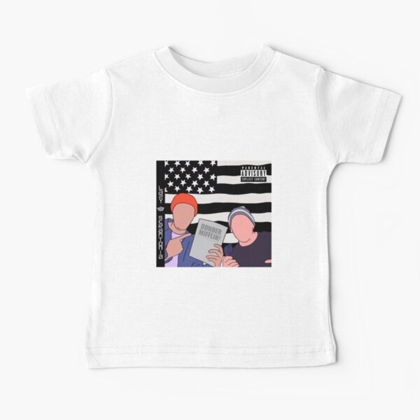 Lazy Scranton OutKast inspired album cover Dwight and Michael Baby T-Shirt