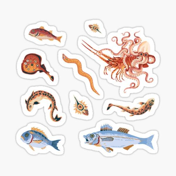 Pompeii Marine Mosaic  Sticker