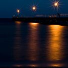 Wool Bay jetty at night from the shore by paul erwin