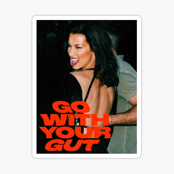 GO WITH YOUR GUT  Sticker
