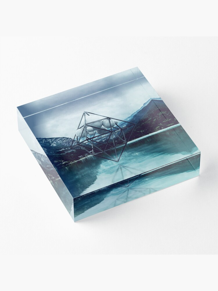 Alternate view of Above the lake Acrylic Block