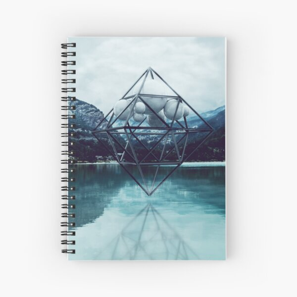 Above the lake Spiral Notebook
