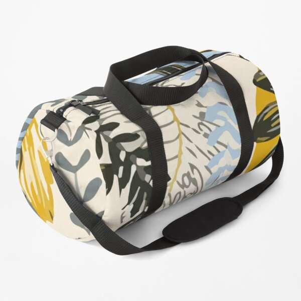 Seamless tropical pattern with abstraction plants leaves Duffle Bag
