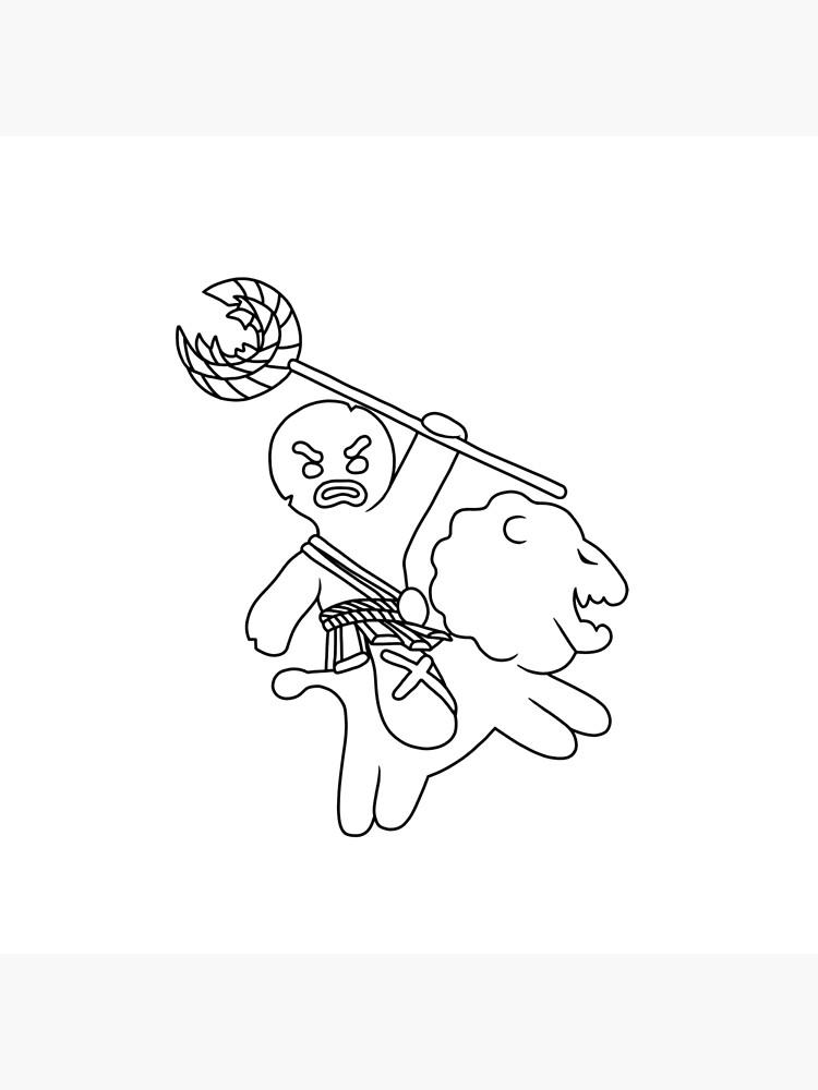 Gingerbread Man Shrek Art Board Print By Jaimebermejo Redbubble
