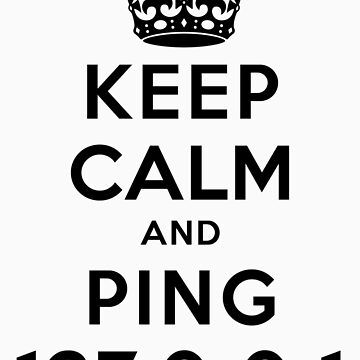 Keep Calm Geeks: Ping Localhost by ozhy
