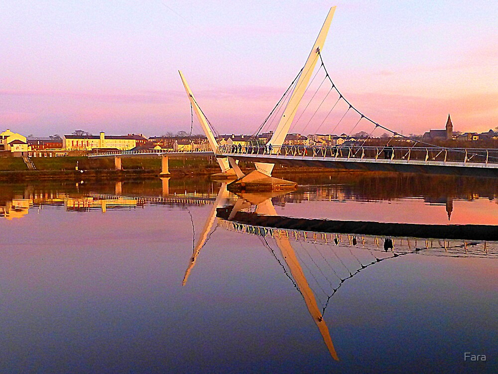 The Peace Bridge At Sunset by Fara