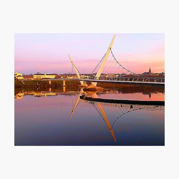 The Peace Bridge At Sunset Photographic Print