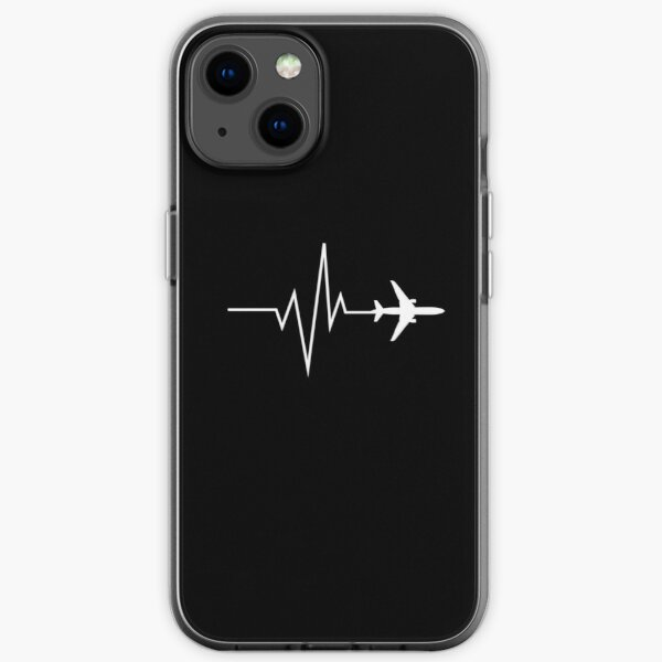 Aviation Pulse with airplane design iPhone Soft Case