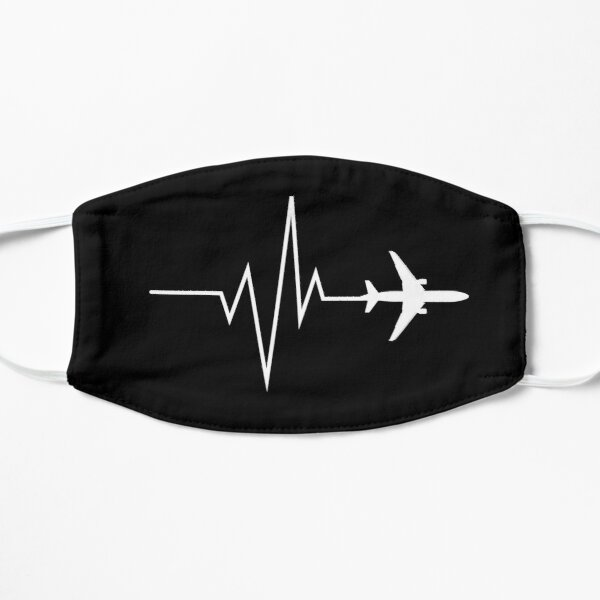 Aviation Pulse with airplane design Mask