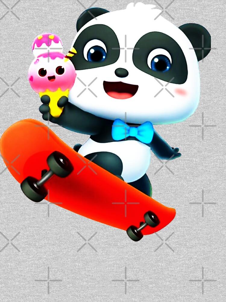 Panda loves ice cream by StefaniaAlina