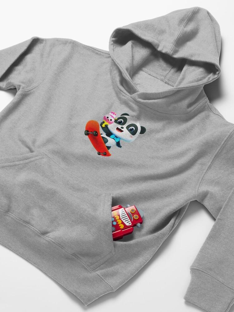 Alternate view of Panda loves ice cream Kids Pullover Hoodie