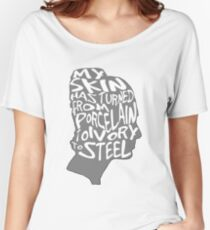 porcelain ivory steel Women's Relaxed Fit T-Shirt
