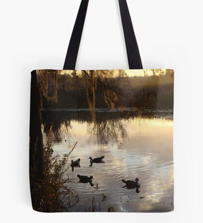 MUSCOVY DRAKES ON ECONFINA CREEK Tote Bag