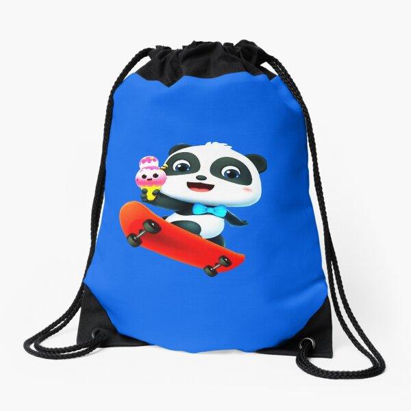 Kiki and Miumiu ♡ panda loves ice cream Drawstring Bag
