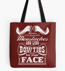Moustaches: Bowties for Your Face Tote Bag