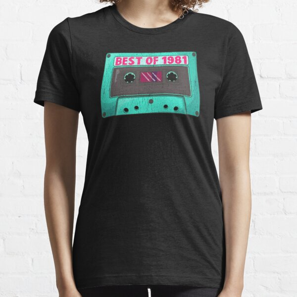 Birthday Gifts for born in 1981 - Vintage Cassette Tape Essential T-Shirt