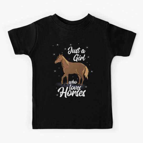 Just A Girl Who Loves Horses Kids T-Shirt