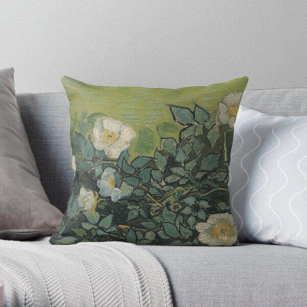 Vincent Van Gogh - Wild roses Throw Pillow