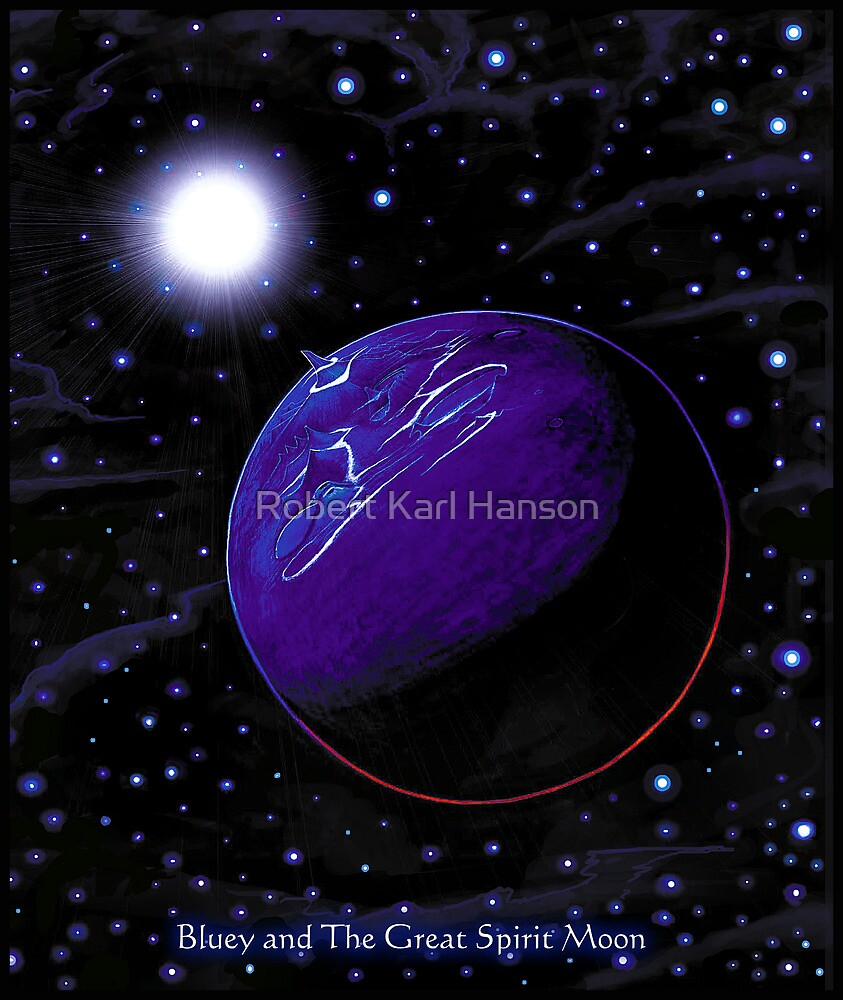 'Eternius' Bluey's home planet by Robert Karl Hanson