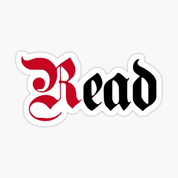 Read Typography Lettering Art Sticker