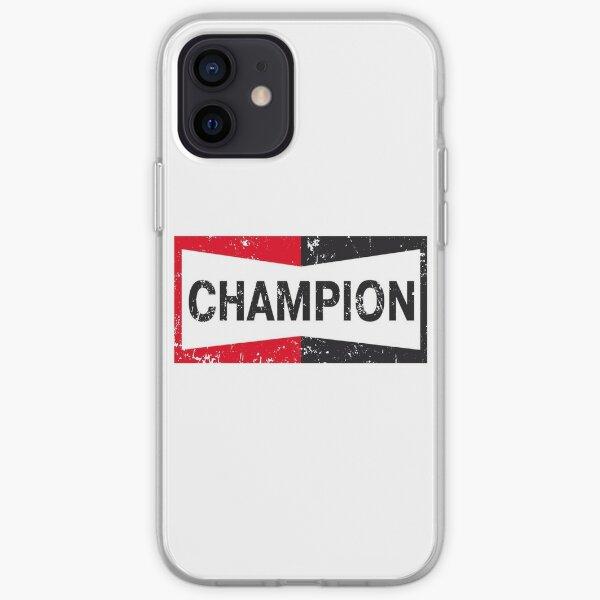 Il était une fois à Hollywood Champion   Brad Pitt   Tarantino   Champion Logo   Look fané et vieilli   Coque souple iPhone