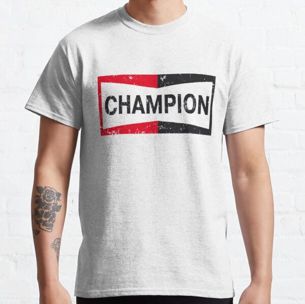 Once Upon A Time in Hollywood Champion Brad Pitt Tarantino Champion Logo Faded, Aged Look  Classic T-Shirt