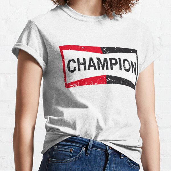 Once Upon A Time in Hollywood Champion|Brad Pitt|Tarantino|Champion Logo|Faded, Aged Look| Classic T-Shirt