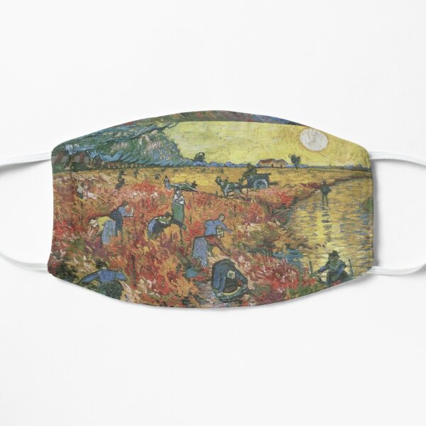 Vincent Van Gogh - The Red Vineyards in Arles Flat Mask