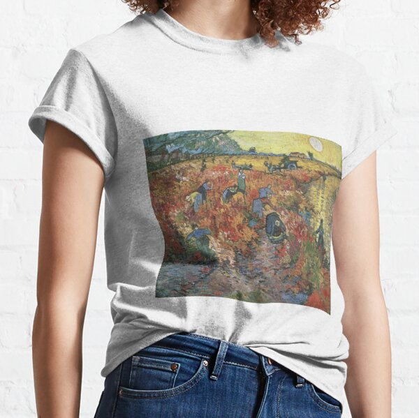 Vincent Van Gogh - The Red Vineyards in Arles Classic T-Shirt