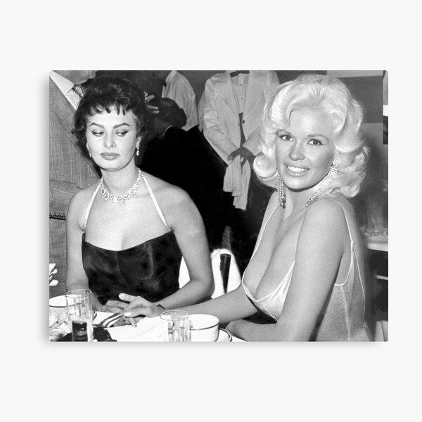Jayne Mansfield and Sophie Loren Metal Print