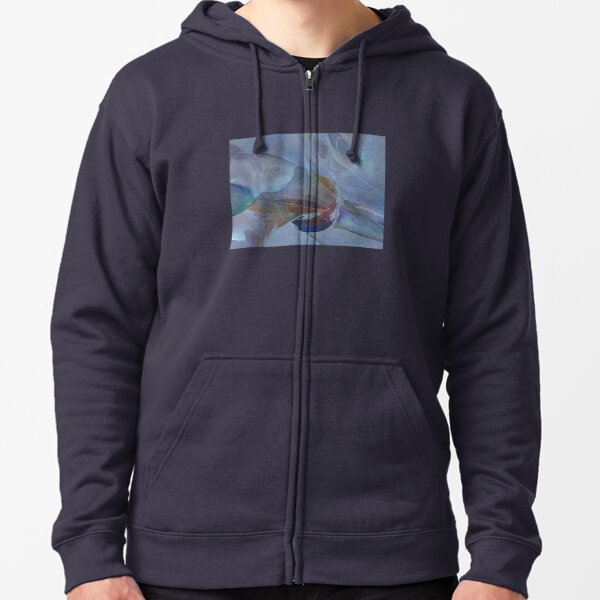 Bubble Abstract Zipped Hoodie