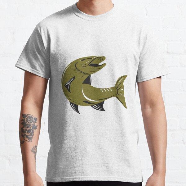 Muskie Muskellunge Fish Retro  Classic T-Shirt