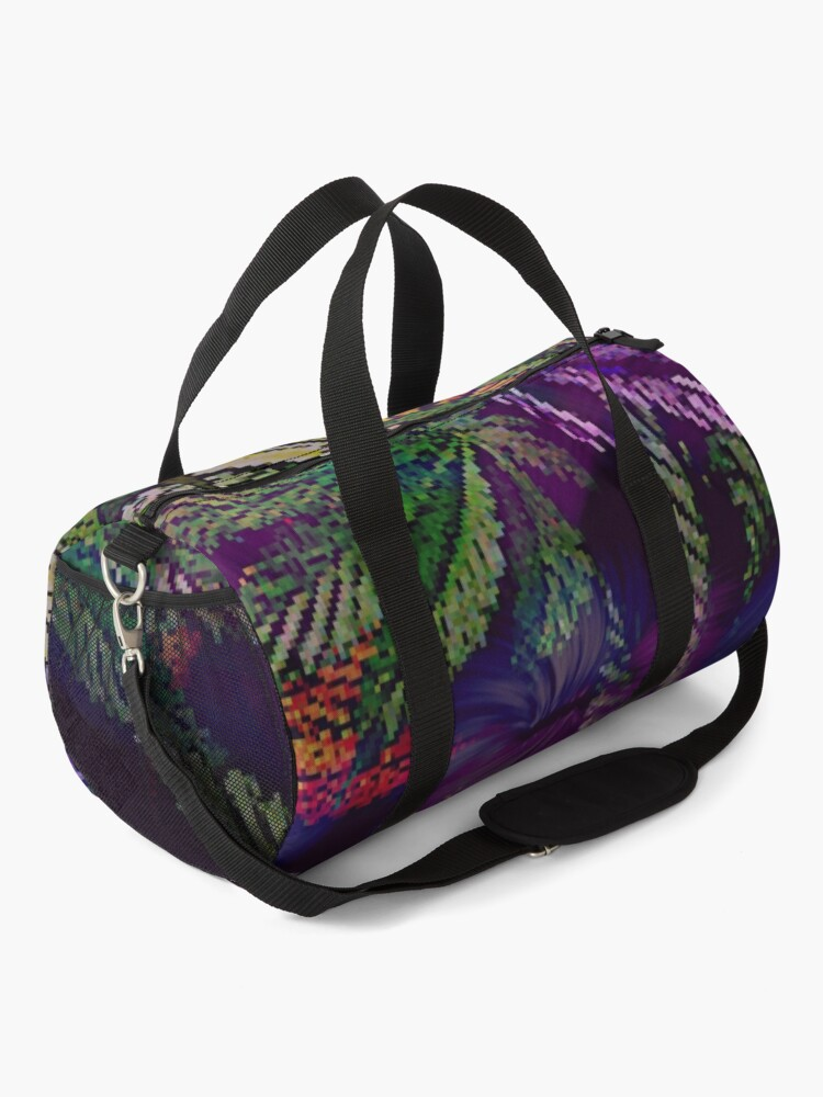Alternate view of Psychedelic Marijuana Cannabis Leaves Duffle Bag