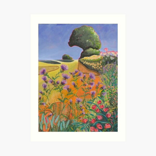The Tree on the Hill Art Print